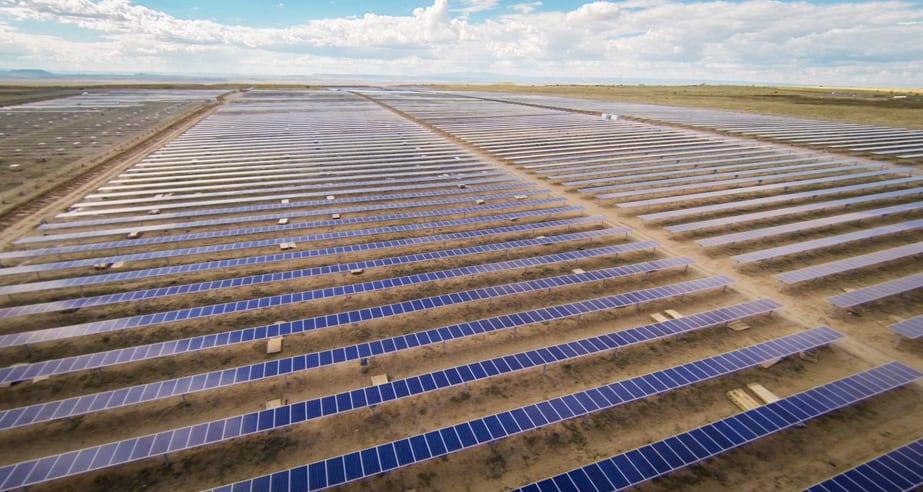 solar panel on ground