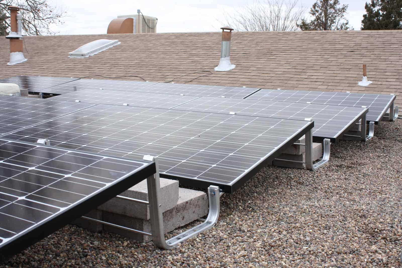 solar panel on roof image